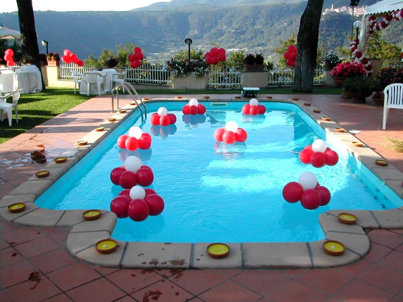 Balloon art di salvo fiori for Addobbi per feste in piscina